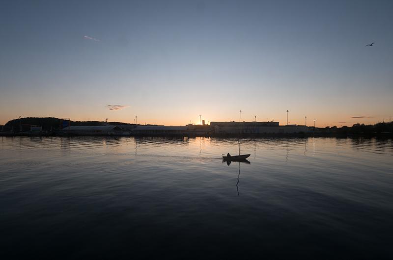 Der Göta-Kanal in der Abenddämmerung